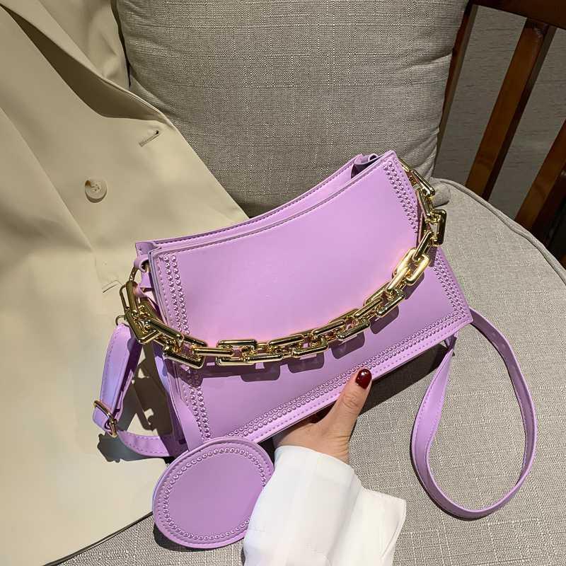 Bolsa de moda Mujeres PU Crossbady bolsos de las señoras pequeña cadena bolso de mano Mensajero