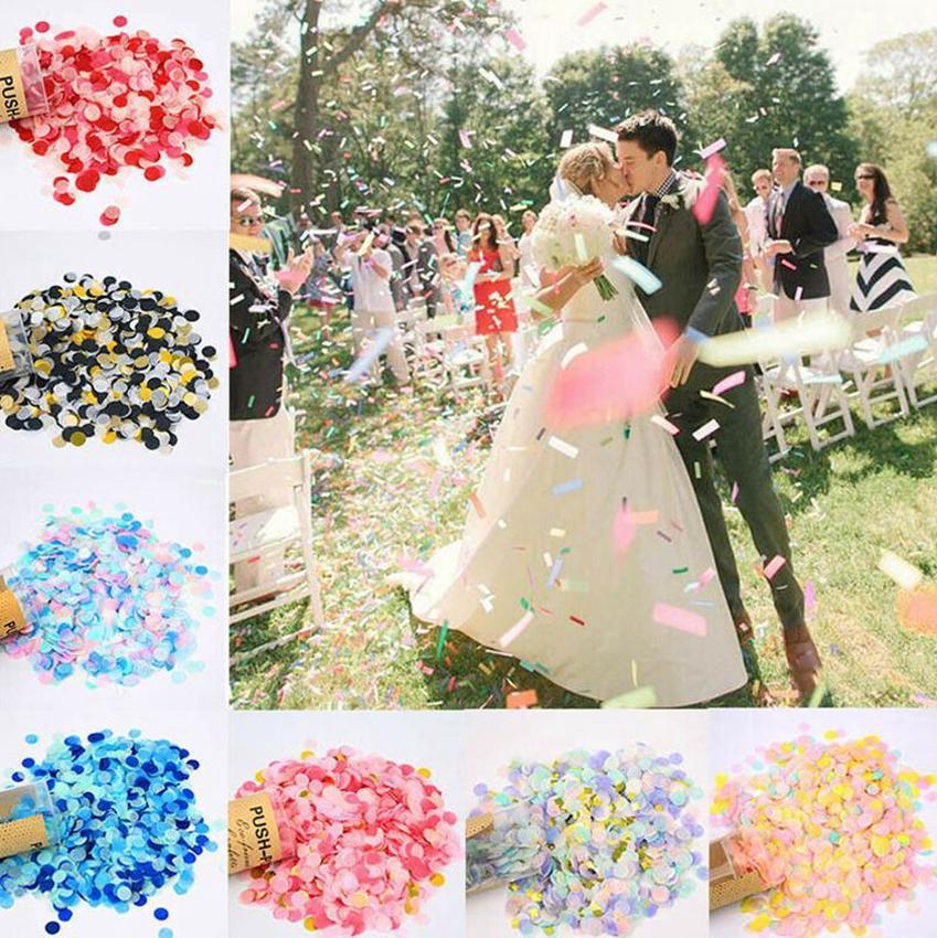 Poussez Pop Confetti Papier Poppers Mariage Anniversaire Accueil Fête Festival Décoration bricolage Push-Pop Fournitures de mariage de Noël KKA8033-1
