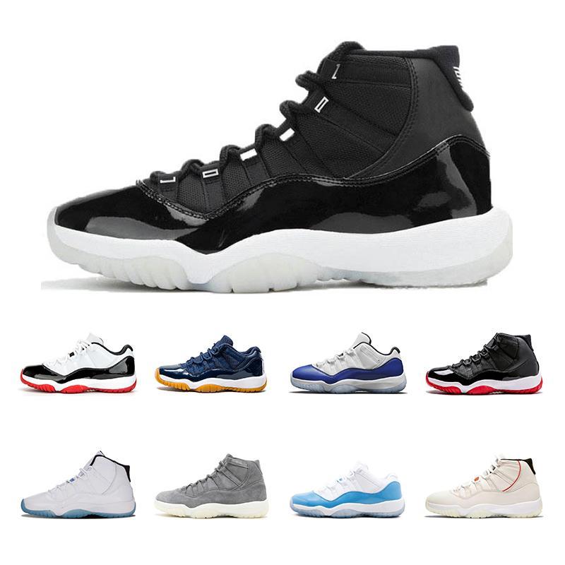 sapatos de alta qualidade Jumpman 25o aniversário 11s de Basquete Masculino Mulheres 2020 Low WMNS 11 Concord 95 Preto \ rRetro \ Sneakers RWhite