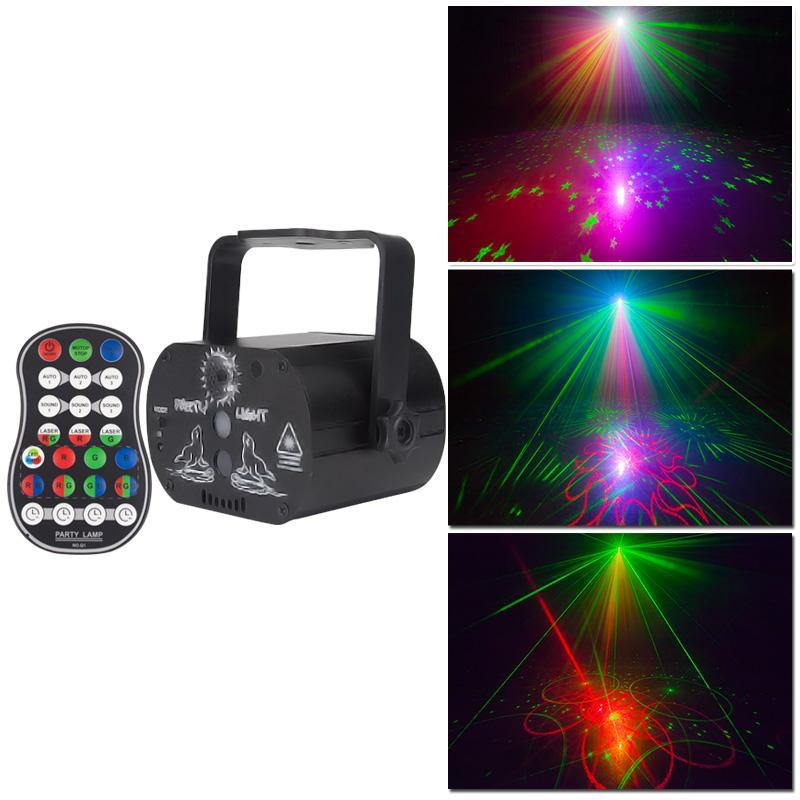 DJ Disko Sahne Işık Etkisi USB Şarj Lazer Işık Projektör Strobe Aydınlatma Tatil Noel Ev Düğün Doğum Günü Dans Parti Dekor