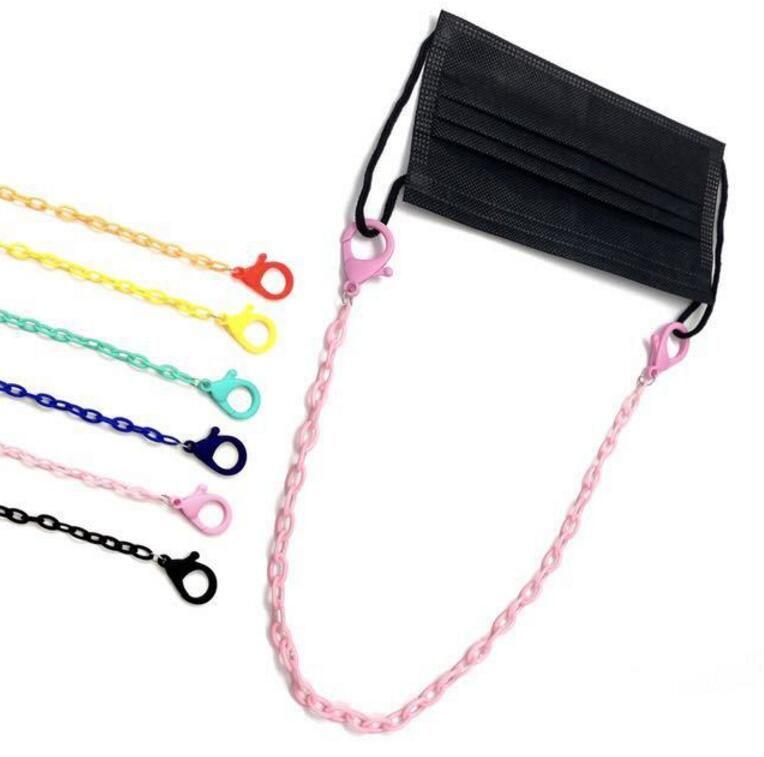 Çocukların yetişkin yüz maskesi zincir güneş gözlüğü zincirleri yüz örtüsü halat dizesi için Şeker renkli yüz maskesi kordon