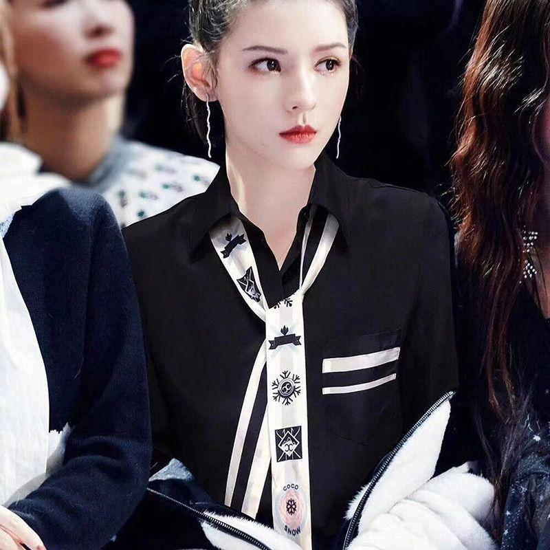 Ma nrGeX étoiles à la mode même 2020 Spring Sichun tout tempérament correspondre minceur style coréen base chemise tout-match chemise gNOTC