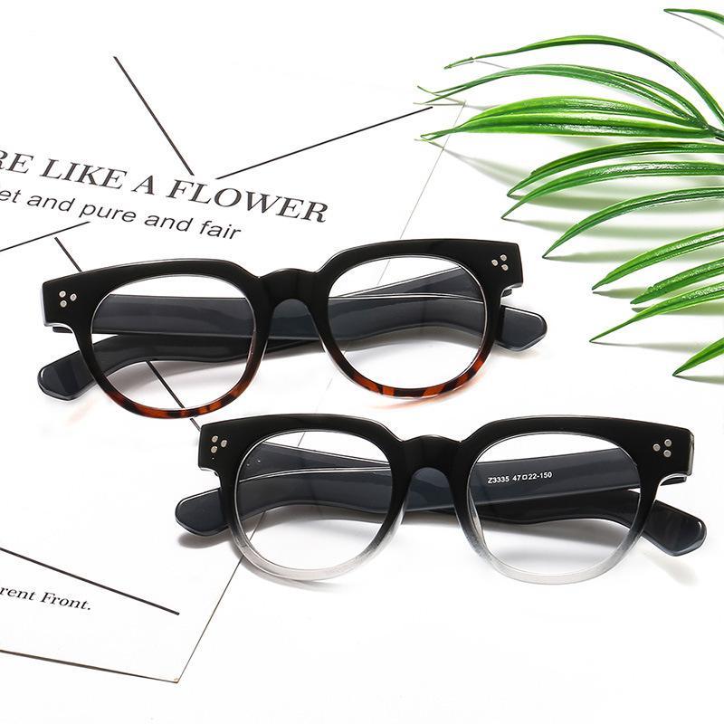 Erkekler ve kadınlar moda klasik gözlük çerçevesi roman eğilim düz ayna öğrencilere edebi kişiliği gözlük Retro.