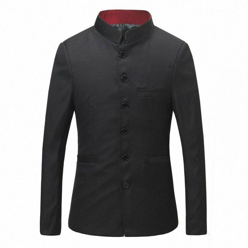 Stile giapponese Rosso collare del basamento Uniforme scolastica uomini dimagriscono tunica Suit Giacche TVCi #