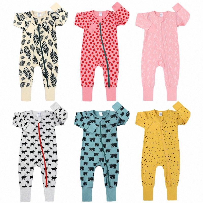 Bebé recién nacido que mameluco largo de la manga de la estrella Pelele ropa infantil de los mamelucos del nuevo otoño ropa de primavera del mono del bebé pijamas # Q588