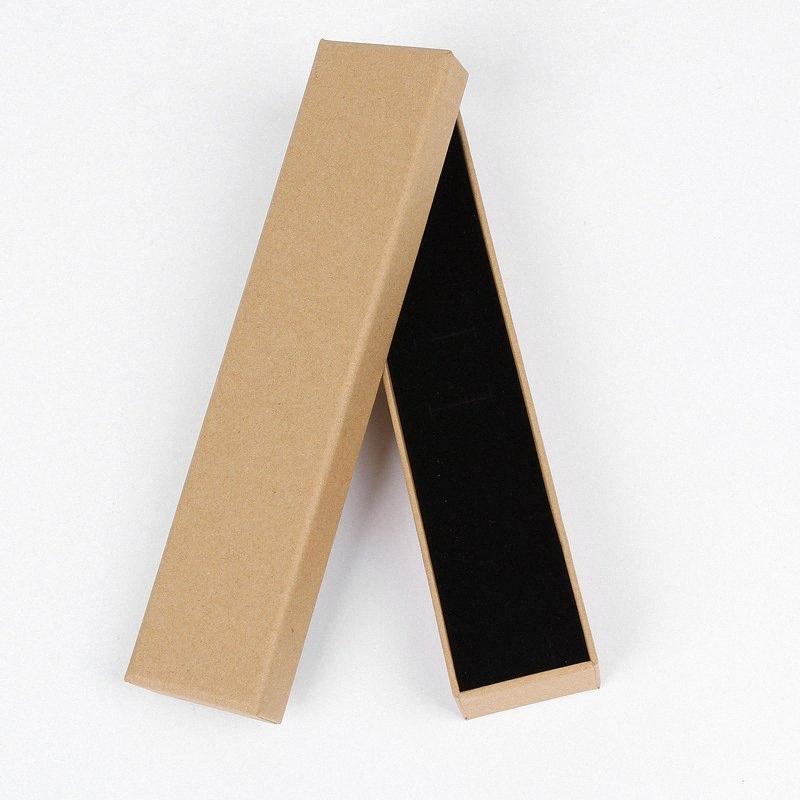 confezione regalo di carta scatole di cartone gioielli regalo Presente scatole di immagazzinaggio di visualizzazione per collane orecchini bracciali anelli quadrato nero GLxU #