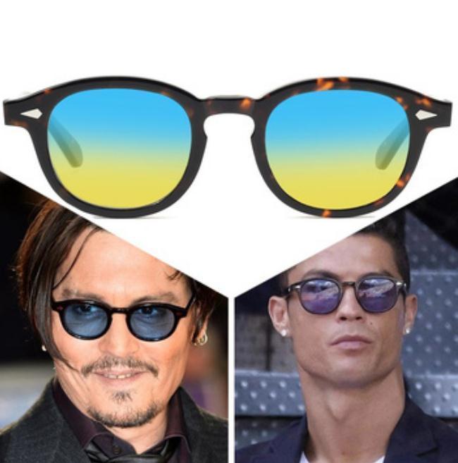 Nouvelle arrivée 16 couleurs M taille L LEMTOSH lunettes de soleil lunettes johnny depp montures de lunettes de soleil haut cadre des lunettes de soleil de qualité avec l'emballage complet