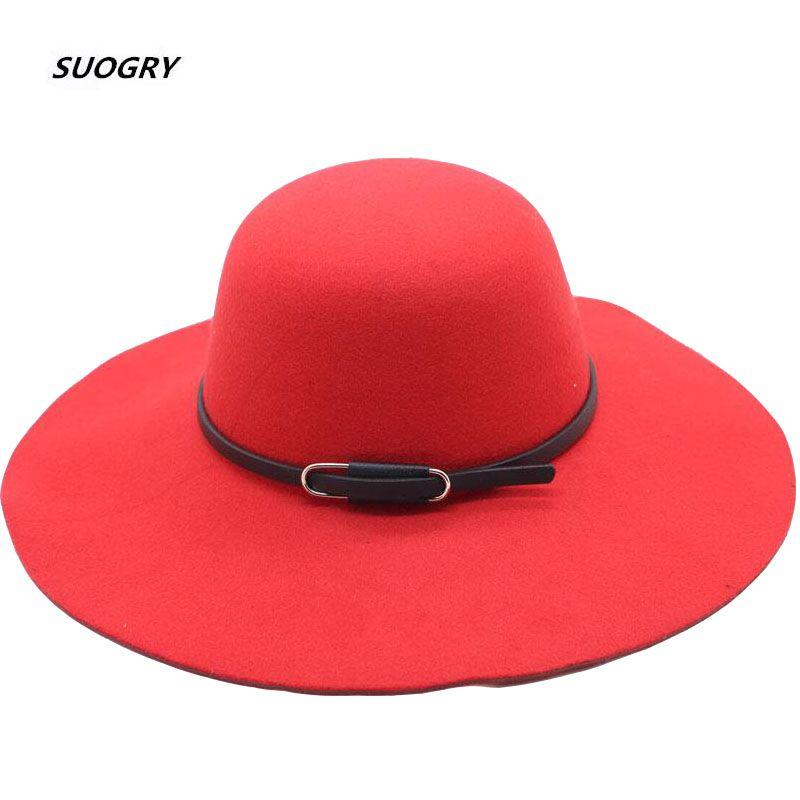 Осень Зима Широкого Брим шапка для женщин девушки взрослых Vintage войлока Bowler Fedoras Твердого Floppy Клош Родитель-ребенок Cap Hat
