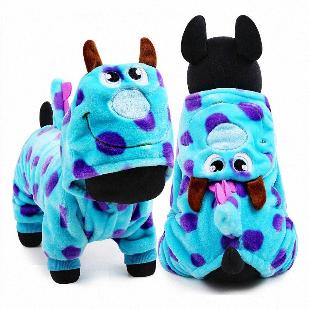 Hund Hunde Shirts Nette Party Dress UP-Hundewinter-Kleidung Mantel Drache Hunde-Bekleidung für kleine Hunde FNTN #