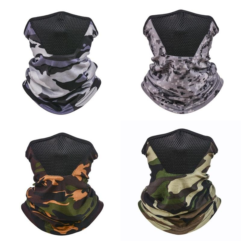 Camouflage Face Cover Mask Turban Fashion Neck Gaiters Kerchief Head Sunshade Magic Scarves Head Wrap Men Cycling Outdoor 4 5yt C2