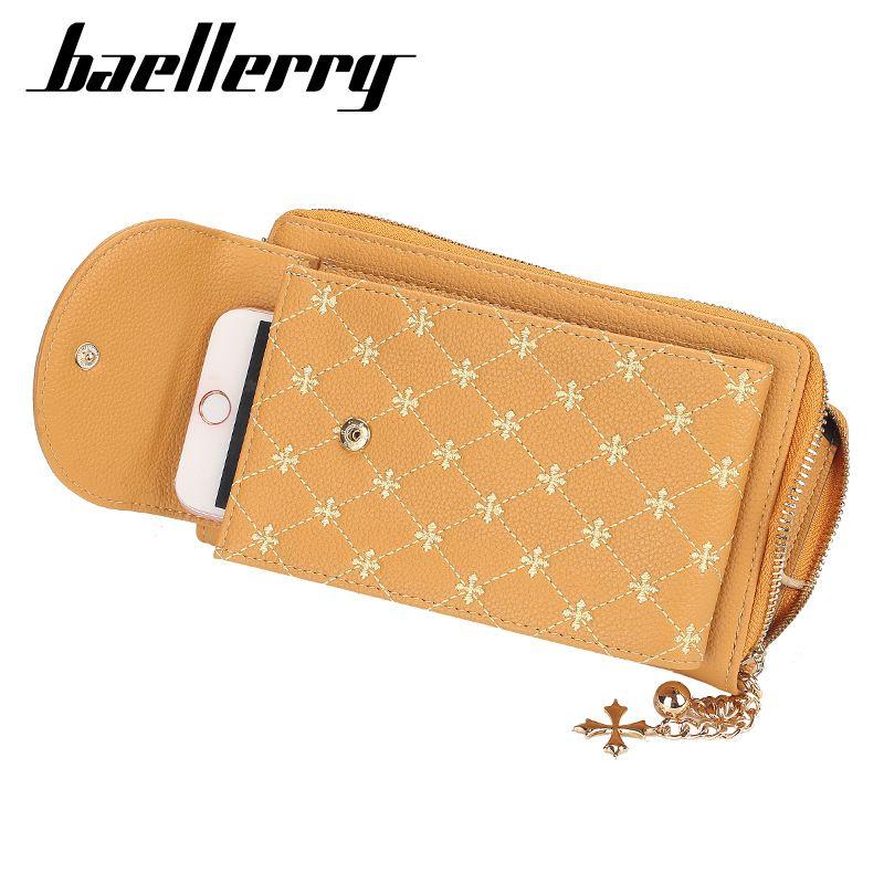 Baellerry Клевер четыре листьев Новый стиль Женская сумка Классический Zip телефон сумка плеча способа сумка