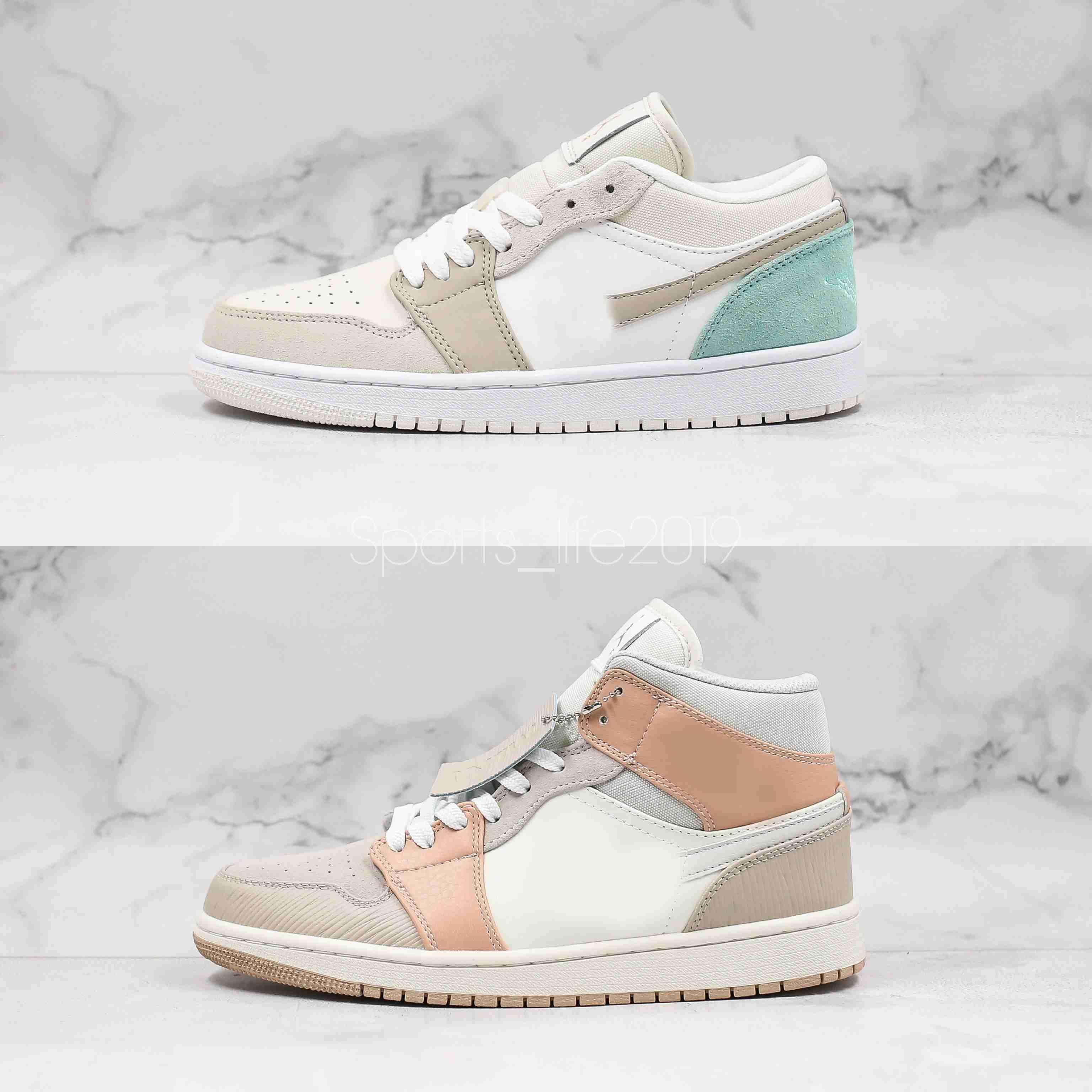 2020 Nuovo 1 Milano Mid pallacanestro 1s Designer Shoes Parigi Low Uomo Formatori donne di sport scarpe da tennis Taglia 36-46