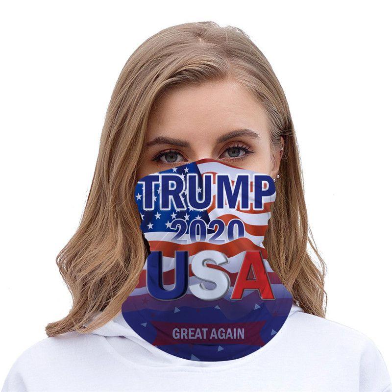 2 Couleur 2020 Trump Triangle écharpe magique Echarpes Amérique à des Masques président américain Donald Trump Election Riding T1I2227