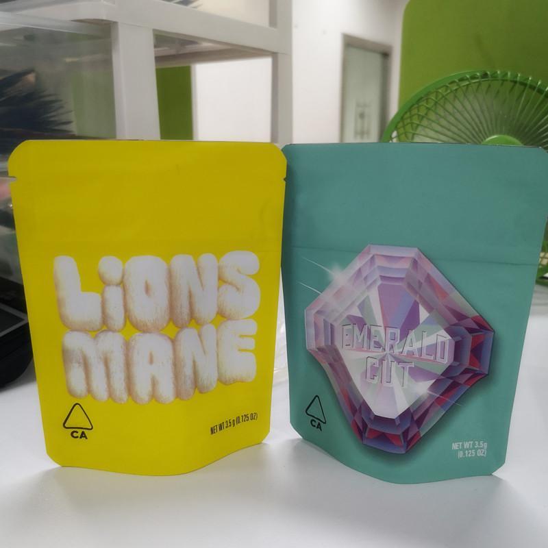 Nuovo 3.5g COOKIES California SF Bianco Runtz taglio smeraldo LIONS MANE Skin Touch imballaggio Lemonade Childproof pacchetto