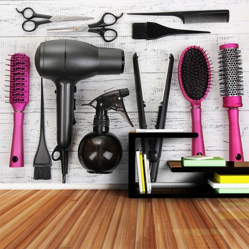 ShineHome-Wallpaper für 3 d Wand Wohnzimmer 3d Haircut Werkzeug Schönheitssalon-Wand-Papier-Wand Rolls Tapeten Barber Shop Decor