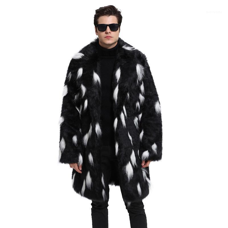 Sahte Kürk Moda Artı boyutu Günlük Kış Coats Sıcak Lüks Erkek Hırka Ceket Erkek Designer Spotlar