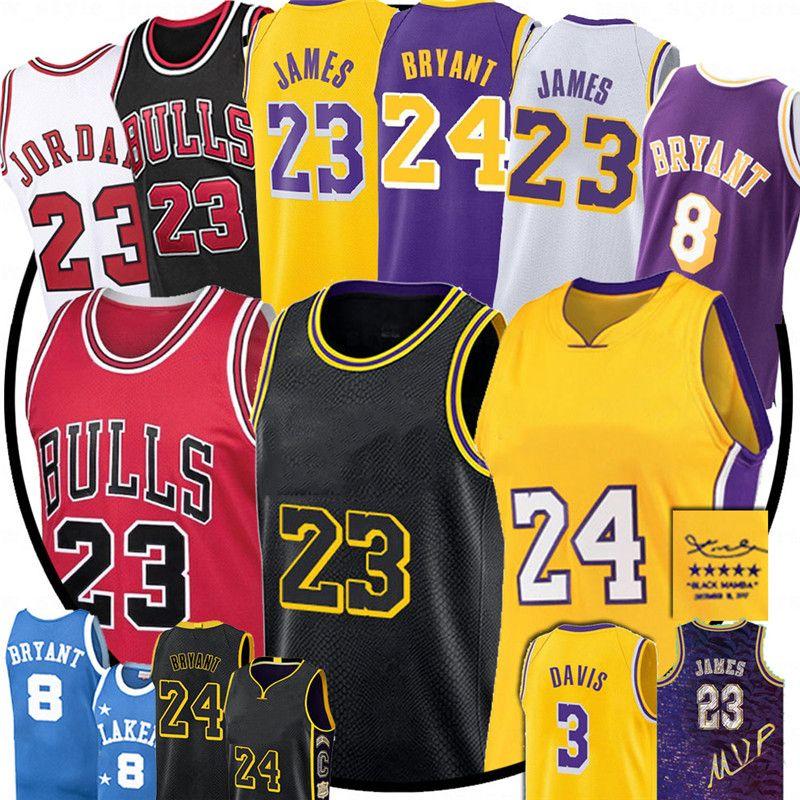 NCAA 23 Michael LeBron James LosLakersMens Jersey Anthony MJ 33Bryant ChicagoBull Männer Kinder Davis Basketball Jersey