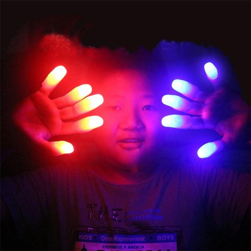Люминесцентный свет перста партии ПВХ нескольких цветов LED напалок Бар Заправки Cheer Магия Prop Fingerstalls Новое прибытие 0 75sr L1