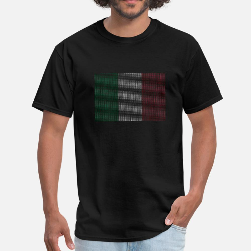 Bandeira Itália Tricolore t shirt homens malha camiseta S-3xl roupa Anti-rugas Casual camisa Primavera Original