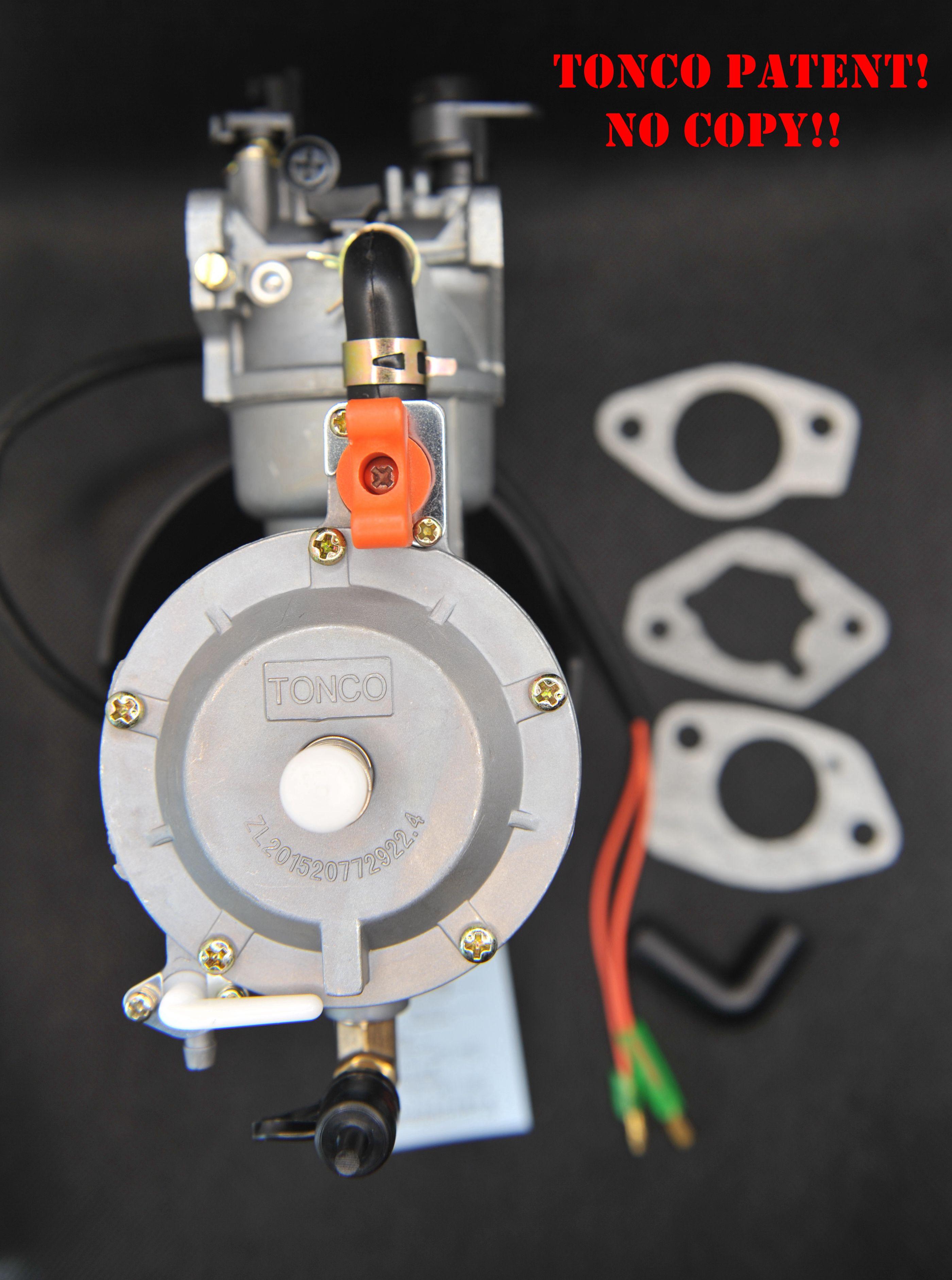 LPG NG Propane تحويل مجموعة لمولد البنزين الهجين 5KW 5000W 188F المكربن الوقود المزدوج مع الاختناق السيارات