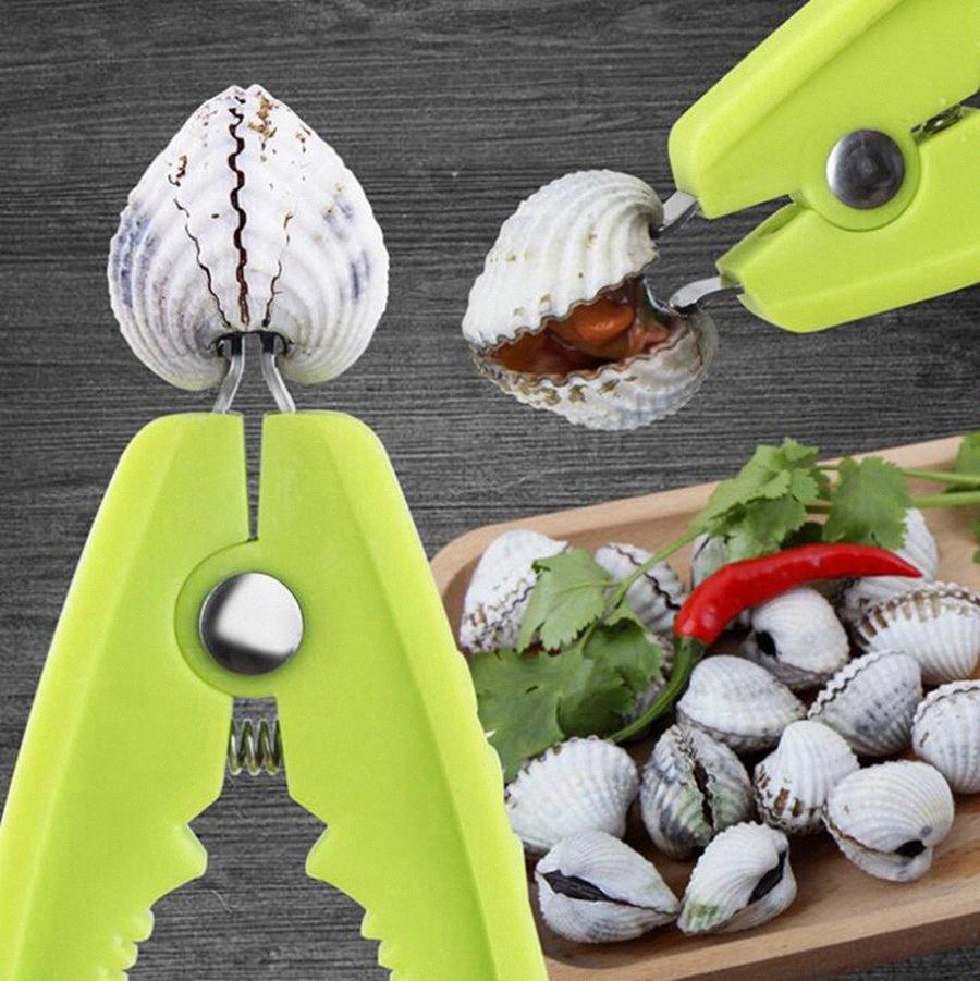 Almeja Abridor multifunción Productos Marinos almejas Alicates plástico Mariscos Mariscos acortar las herramientas de cocina Gadget OOA7630 Q6Vu #