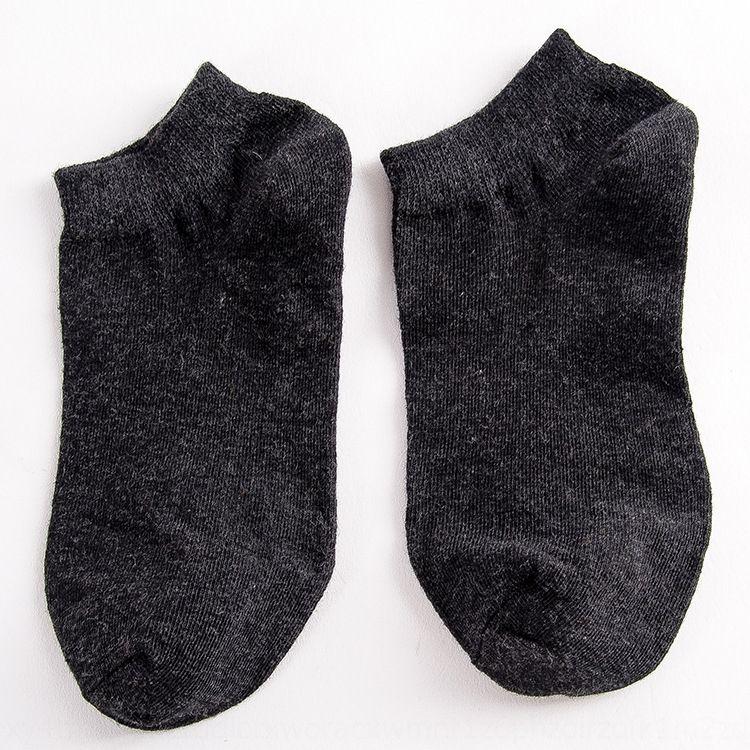 color sólido de los hombres BG2WT Mingsu Barco y baja calcetines de algodón estilo de poliéster boca barco calcetines superiores superficiales interiores de los hombres