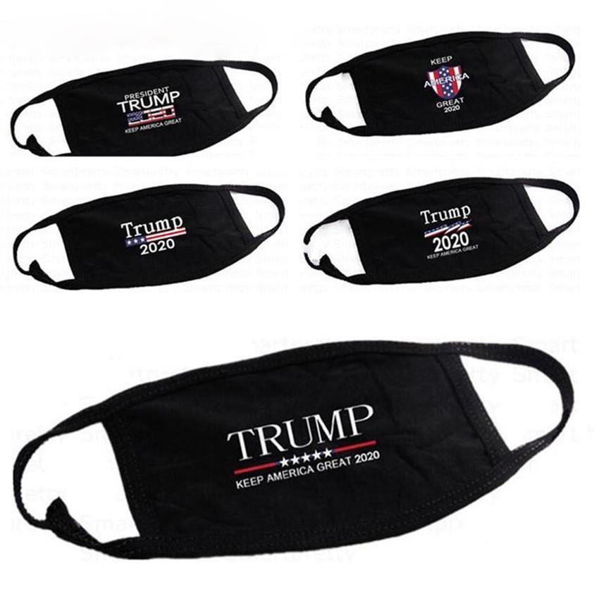 Maschere Trump cotone partito anti parapolvere Donne Uomini Unisex maschere stilista stampato nero lavabile maschera di 5 stili AHC1225
