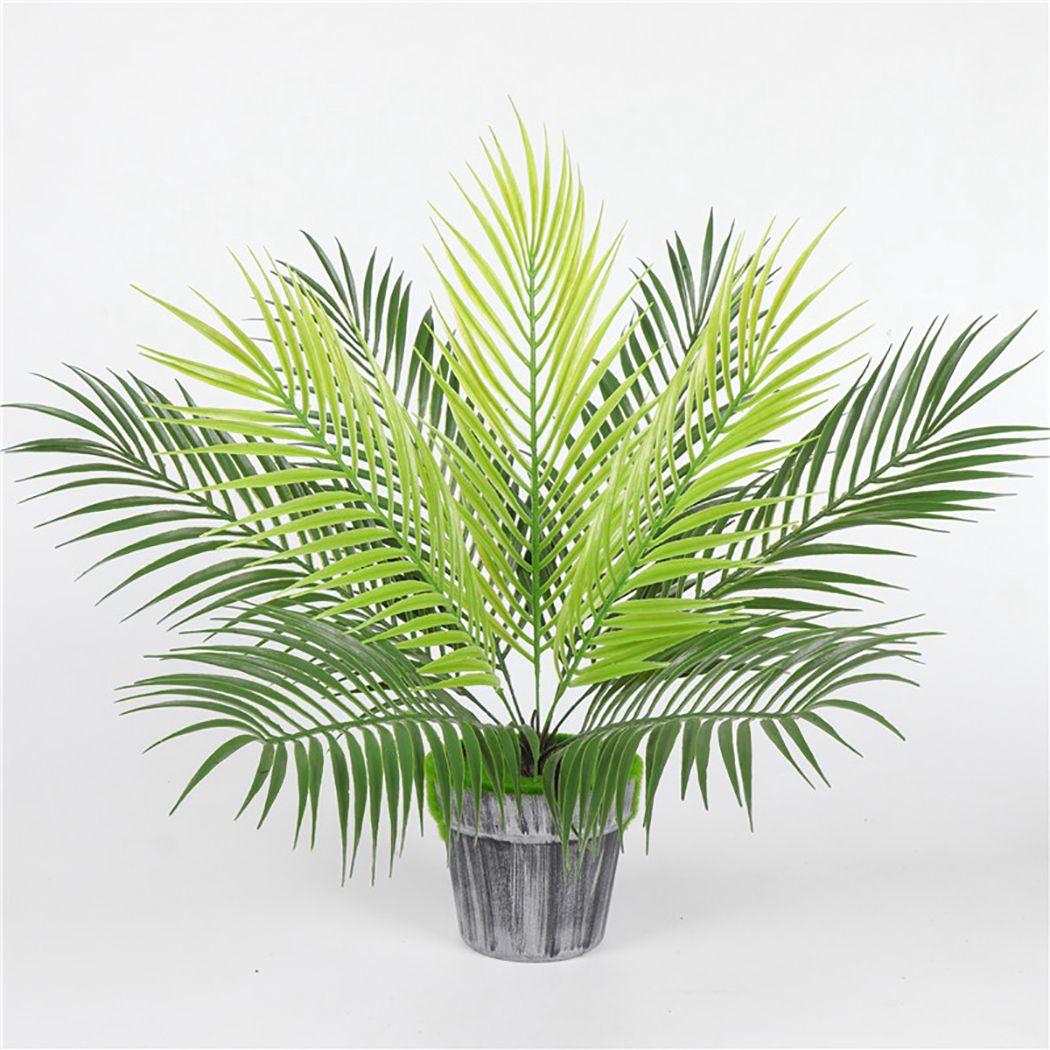 Fern Artificial plantas de plástico Tropical Folhas da palmeira Branch Fotografia Jardim Decoração do casamento Folhas Decor