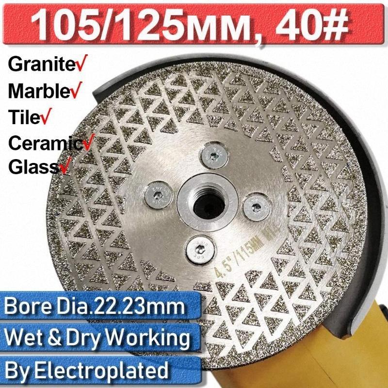 Porselen 125mm Elmas Öğütücü Testere Disk D30 3Q9f # Kesme Tekerlek Kuru taşlama makinesi Granit Mermer elmas disk Çini 105mm Çini Testere