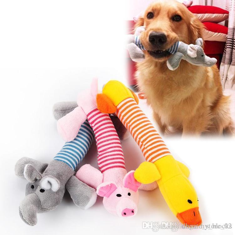 Domuz Çocuklar Oyuncaklar Ördek Popüler Sevimli Hayvan Köpek Kedi Doldurulmuş Hayvanlar Oyuncak Komik Fleece Dayanıklılık Peluş Fit For All Evcil Fil