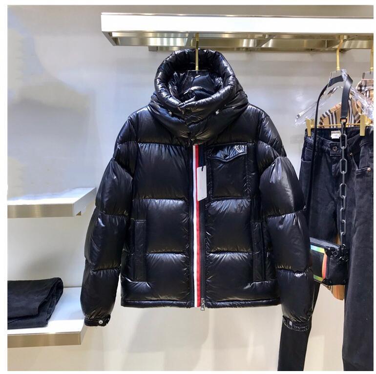 프랑스 브랜드 남성 겨울 따뜻한 재킷 화이트 오리 아래로 두꺼운 코트 솜털 후드 빵 의류 지퍼 남자 디자이너 다운 재킷