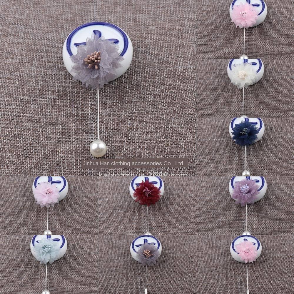 Broche camp directe robe décoration fleur de tissu style coréen banquet accessoires Broche accessoires de montage Pin