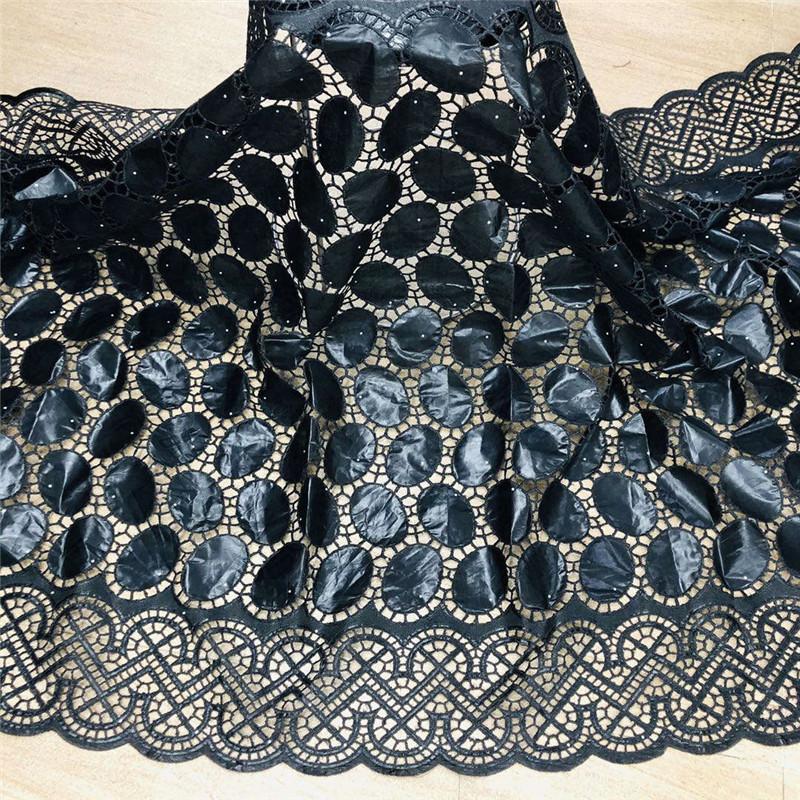2020 nuovo arrivo tessuto africano riche Bazin con perline ricami in pizzo / bazin riche vestire materiale nigeriano HL061803 T200810
