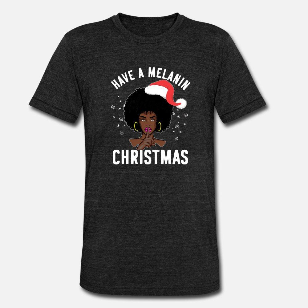 Siyah Pride Have A Melanin Noel t gömlek erkekler tasarımcı Kısa Kollu S-XXXL homme Fit Yeni Stil Yaz Stili Aile gömlek