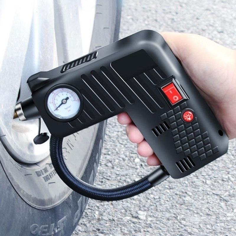 Portable Air Compressor Cordless Electric Auto Car Bike Tire Inflator Pump 12V