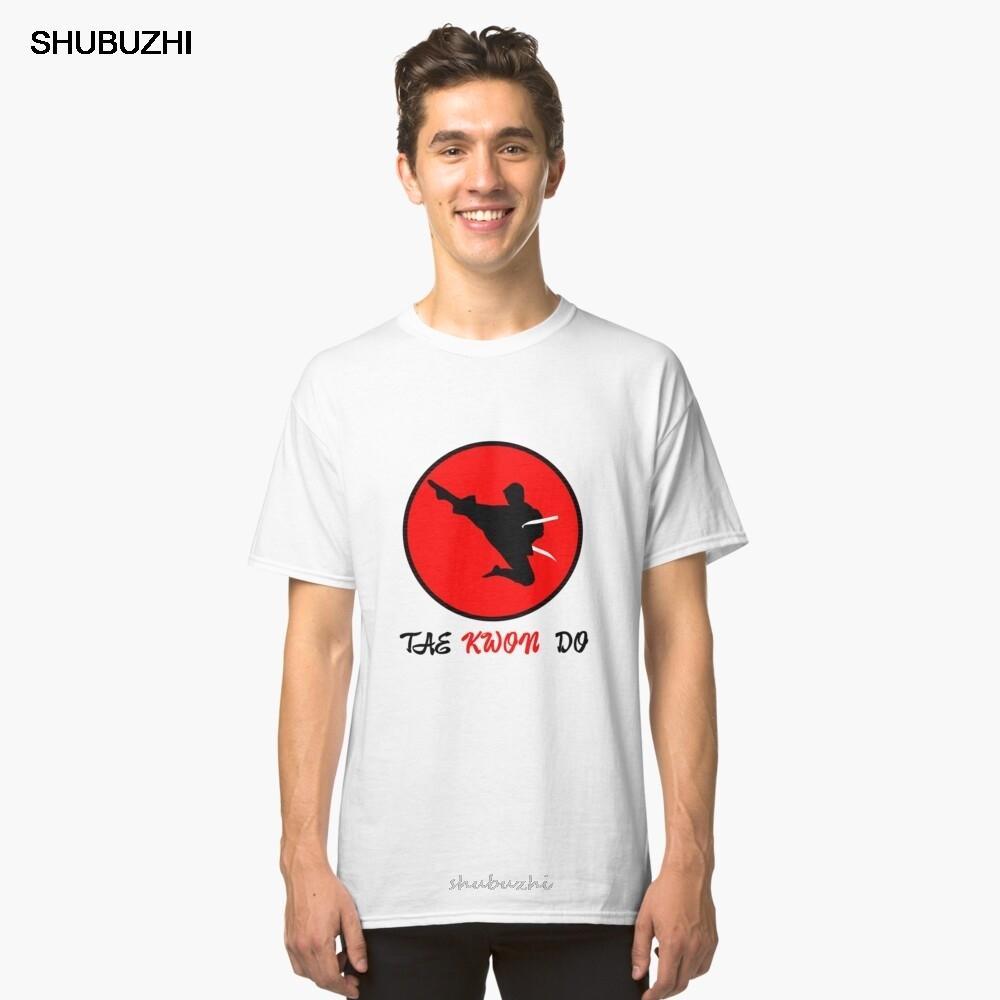 мужская бренд хлопок тенниска боевых искусств Tae Kwon Do летающий удар - идея подарка Классического футболка с коротким рукавом мужчин летом тенниска