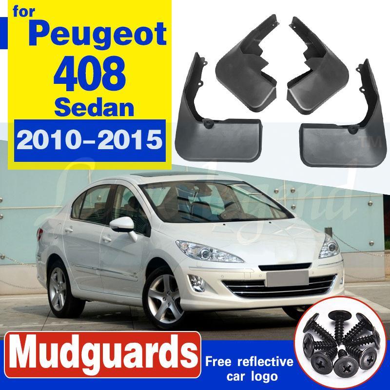 Pour Peugeot 408 Sedan Bavettes garde-boue BOUE 2010-2015 Garde-boue Fender 2011 2012 2013 2014 avant arrière de voiture boue Rabats