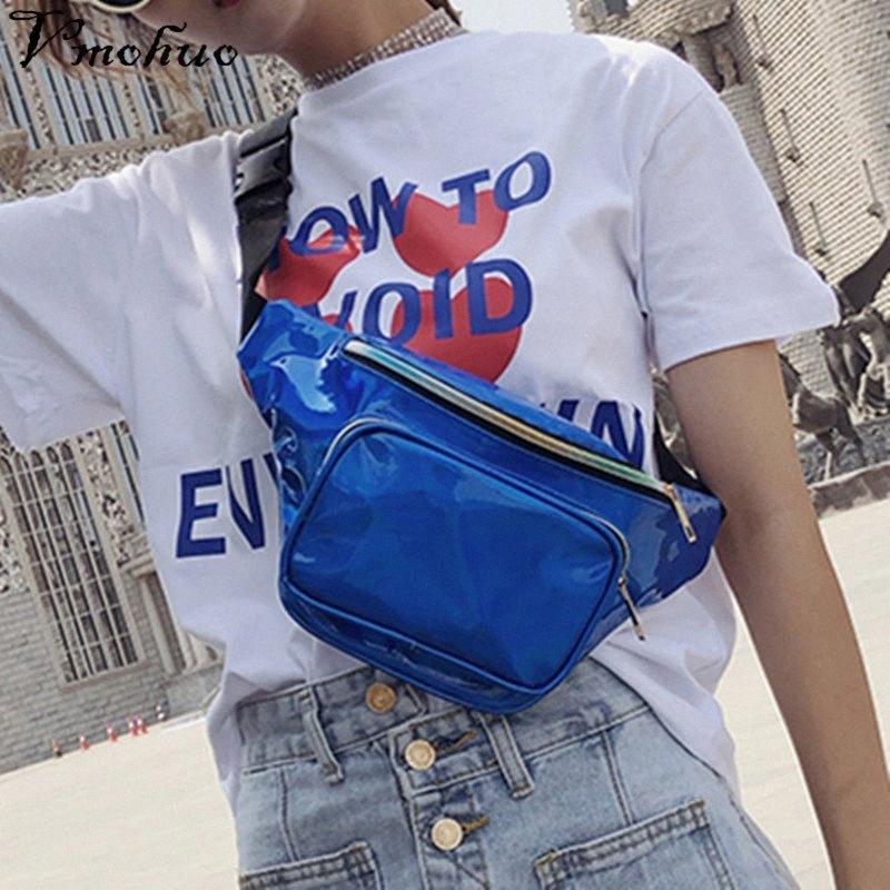 VMOHUO женщин PU кожаный пояс на молнии сумки Фанни талии пакет плеча Crossbody сумки Мода Bling Грудь Сумка HgMk #
