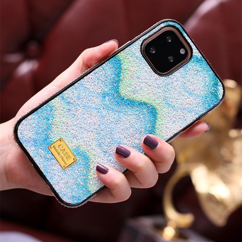 Lüks Rhinestone Bling Telefon Kılıfı iPhone 12 11 Pro Max 11 Pro X XS XR XS MAX 7 8 artı elmas Bling TPU Telefon Kapak