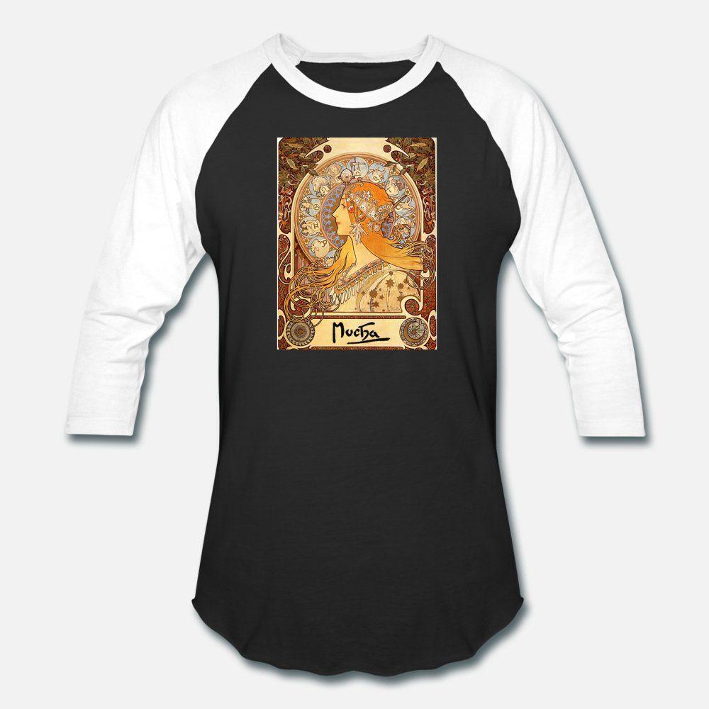 Alphonse Mucha Zodiac t shirt homme Customize manches courtes ras du cou mâle célèbre Nouvel été Mode normal chemise