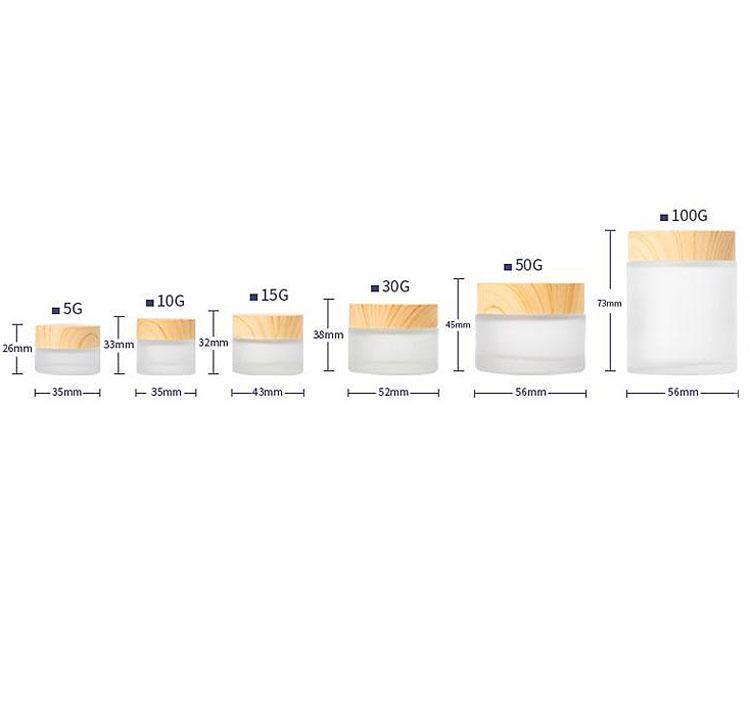 New 5g 10g 15g 30g 50g 100 g crème pot de crème cosmétique maquillage vide peut être rempli contenant une bouteille d'emballage de charbon de bambou