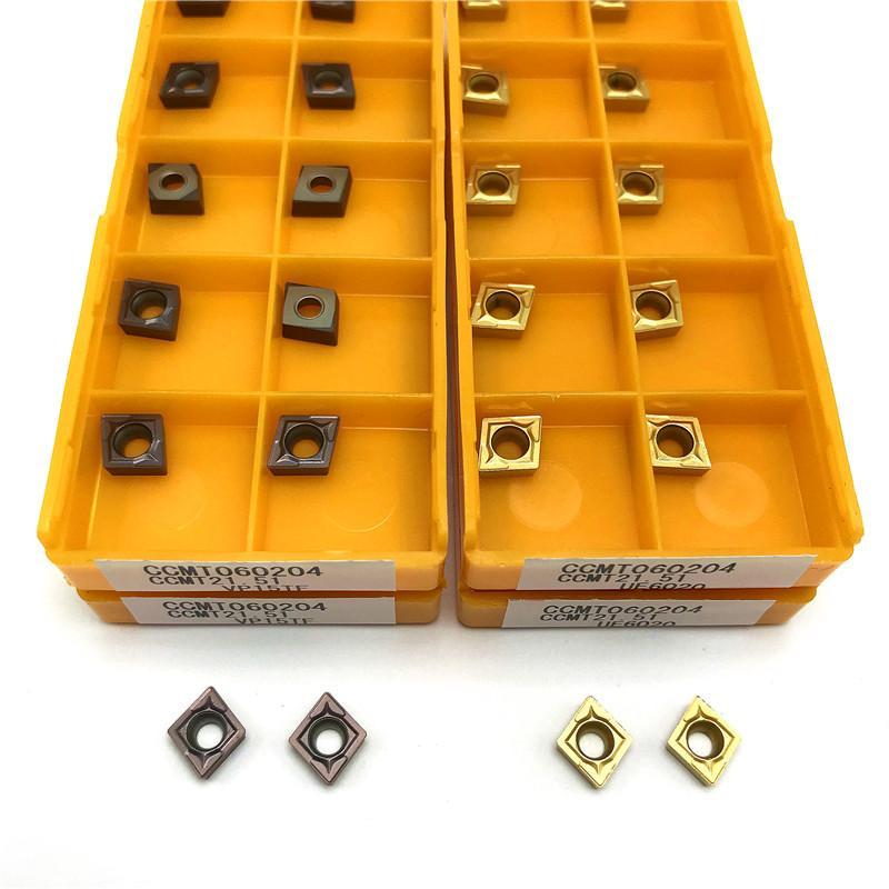 10pcs carburo de inserción CCMT060204 VP15TF UE6020 de metal torno herramientas internas herramienta de torneado CNC herramienta CCMT 060.204 girando inserto de aleación dura