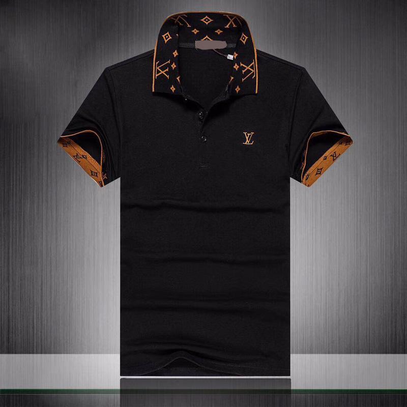 Мужская с коротким рукавом рубашки поло Medusa способа печати Slim Fit Конструктор Polo с белым Вышивка Bee тигр Повседневный Черный Polos рубашка