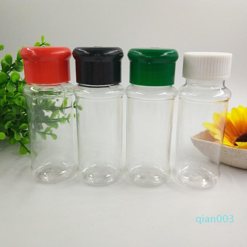 Plástico especias Sal Pimienta Shakers Condimento del tarro de poder a la parrilla condimentos Vinagre Botella herramientas de cocina Vinagrera recipiente de cocina DBC BH3489