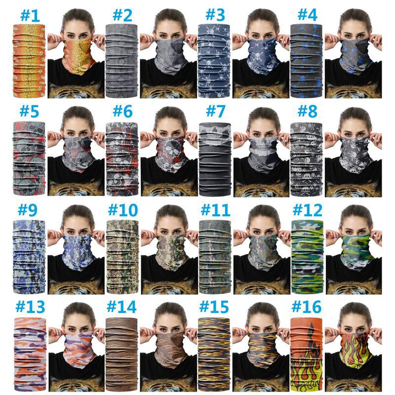 2020 Nuovo floreale magica velo maschera di protezione dello Snood scaldacollo in bicicletta senza saldatura esterna Turbante Copricapo scialle Sciarpe asciugamani