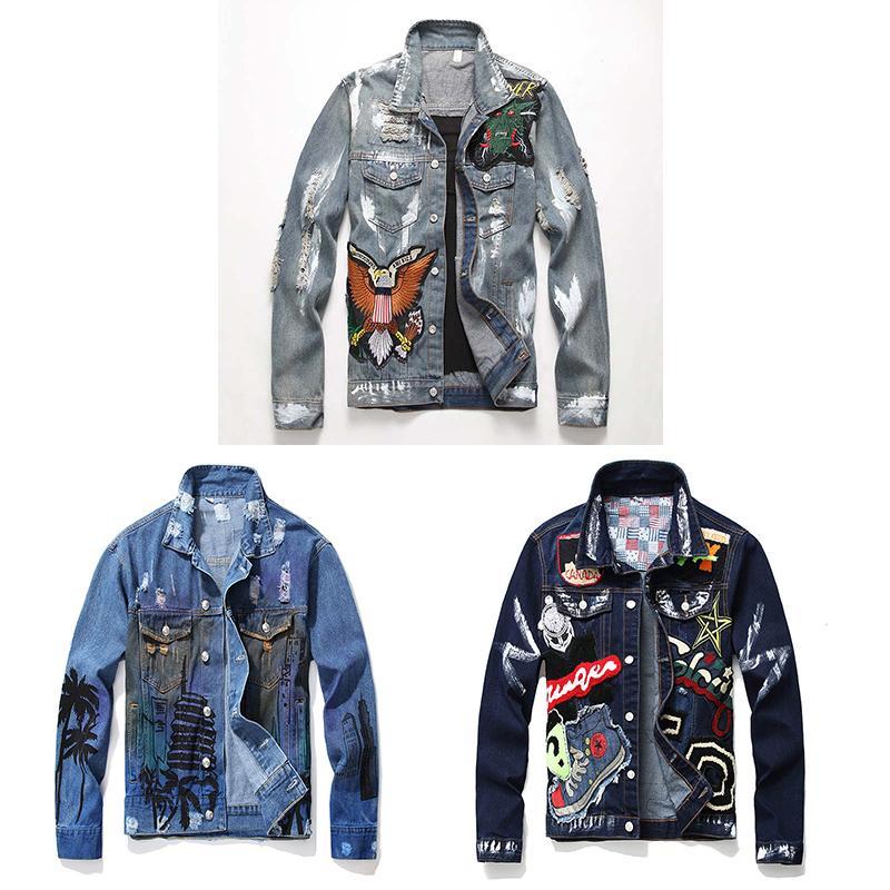 مصمم الرجال الشتاء الدنيم سترة الرجال سميكة الصوف الجينز جاكيتات يتأهل الذكور قميص الملابس كاوبوي معاطف الشارع الشهير الهيب هوب ارتداء