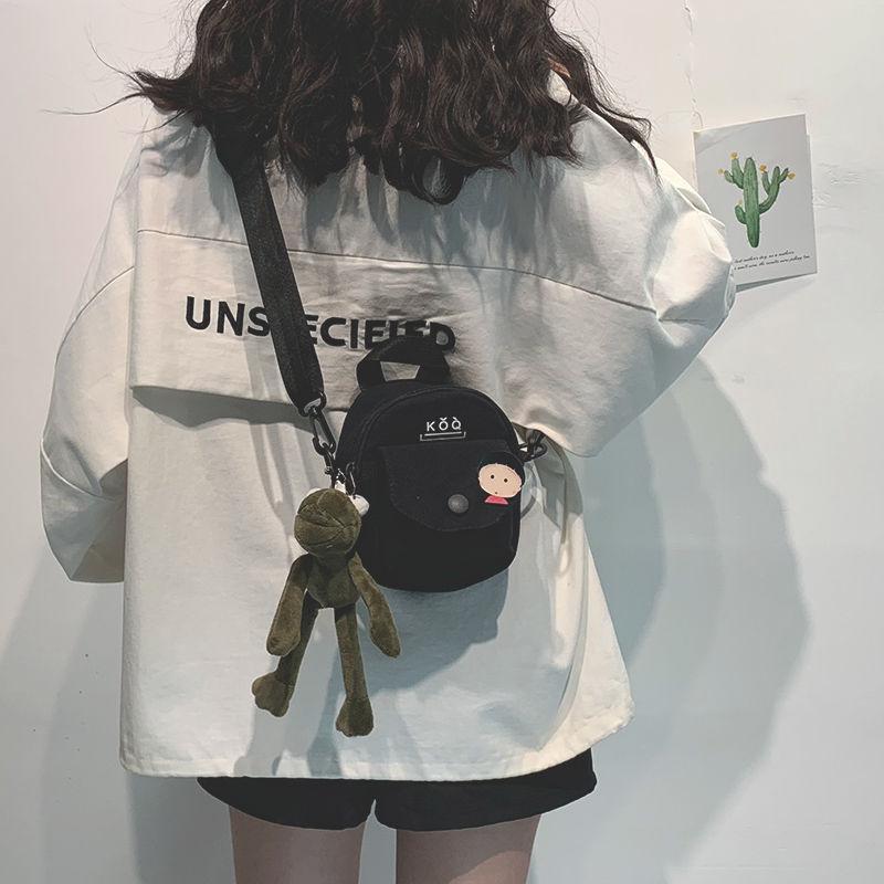 Kadınlara 2020 Mini Tuval Omuz Çantası İçin Kız Dairesel Bayanlar Telefon Cüzdan İçin Moda Küçük Crossbody Çanta
