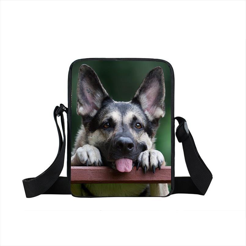 Cane del pugile Pastore Tedesco Mini Messenger Bag bambini Sacchetti di scuola Bull Terrier Kid Book Bag Borse Schoolbag regalo Bulldog Animal