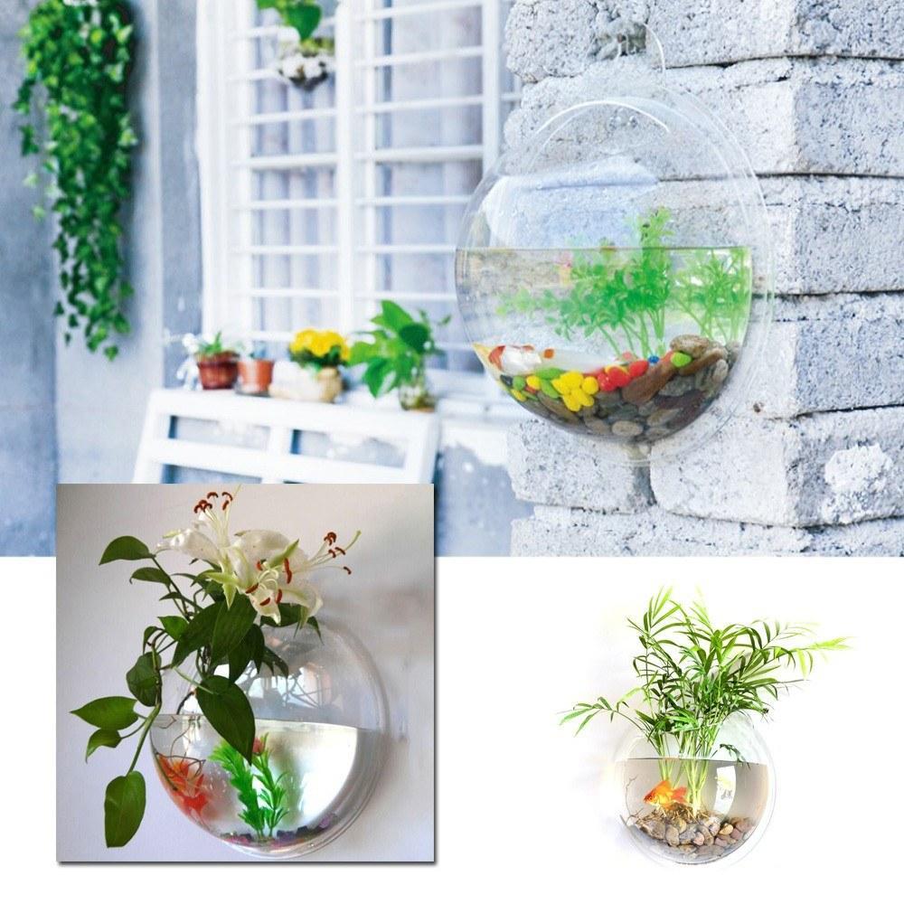 Parete appeso a ciotola di pesce ciotola acquario serbatoio rosso ciotola ciotola a parete fish serbatoio piatto pianta vaso vaso fiore vaso decorazione della casa