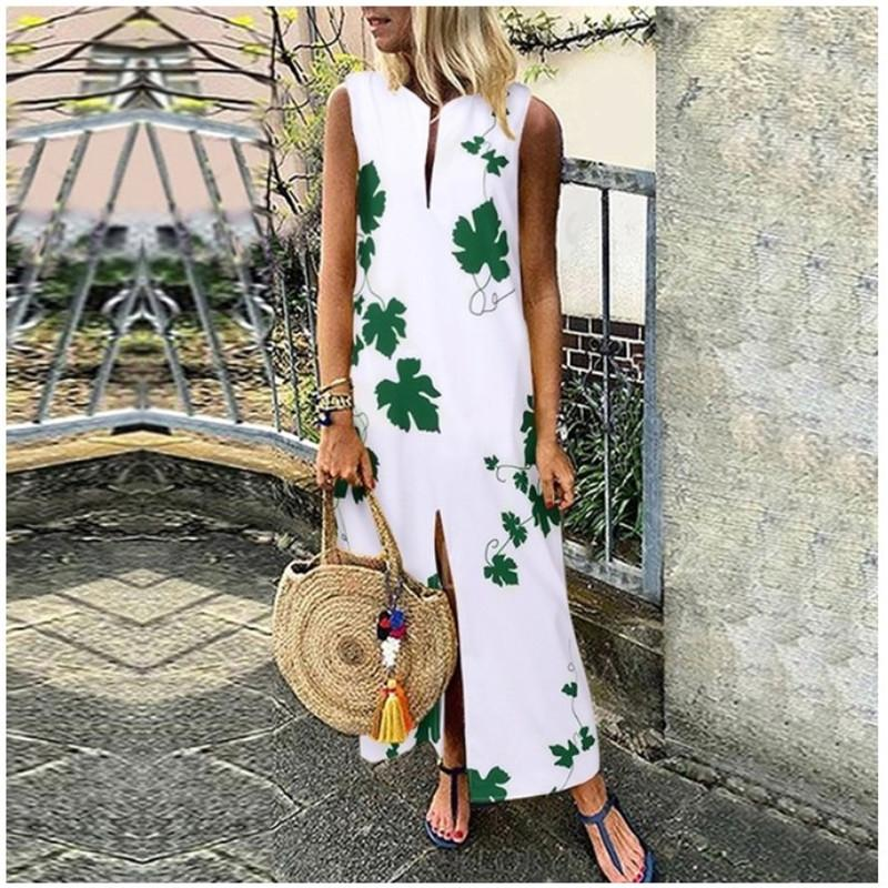 uc1KS 2020 İlkbahar Barok Ulusal Milli elbise tarzı kadın giyim temel V yaka düzensiz elbise elbise